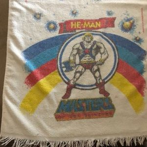 Vintage He-Man Masters of the Universe bath towel
